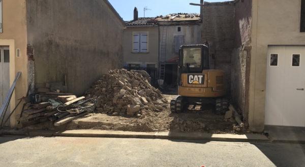 Travaux de démollition